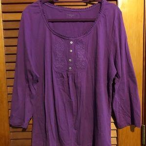 Laura Scott Purple Shirt NWOT